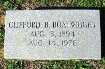 Clifford Bedelle Boatwright Marker