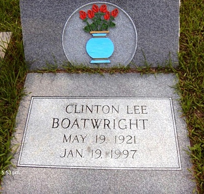 Clinton Lee Boatwright Gravestone