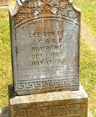 Coller Lee Boatright Gravestone