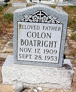 Colon C. Boatright Gravestone
