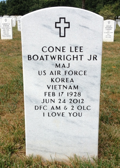 Cone Lee Boatwright Gravestone: