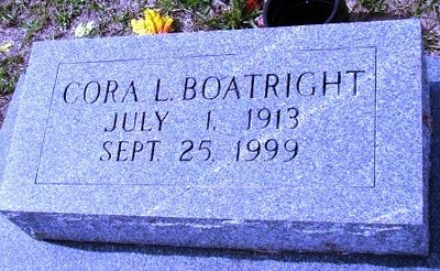 Cora Lee Wilson Boatright Gravestone
