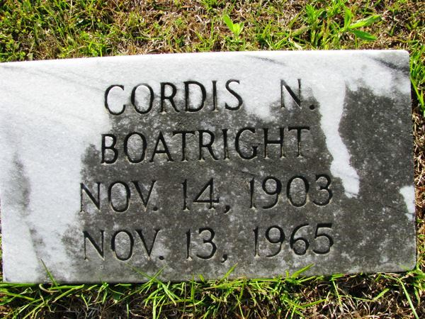 Cordis Newton Boatright Gravestone