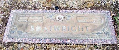 Daniel Franklin and Lucille Pyburn Boatwright Marker
