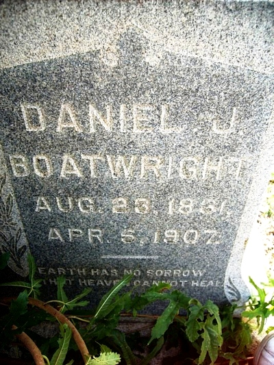Daniel Jones Boatwright Gravestone
