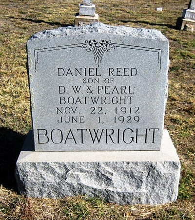 Daniel Reed Boatwright Gravestone