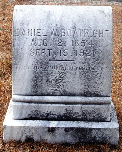 Daniel Webster Boatright Gravestone