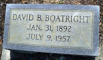 David Bland Boatwright Gravestone