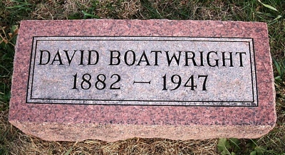 David Boatwright Gravestone: