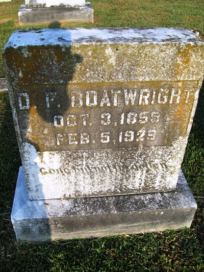 David Franklin Boatwright Gravestone