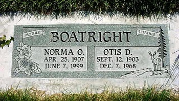 David Otis and Norma Odessa Boatright Marker