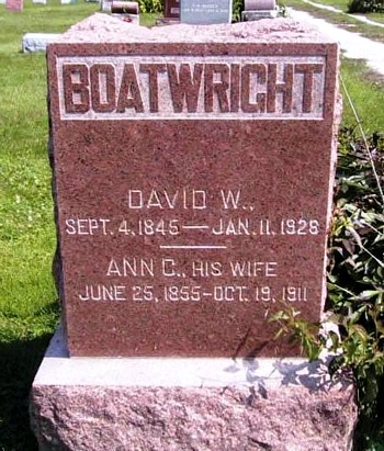 David Watson Boatwright Gravestone