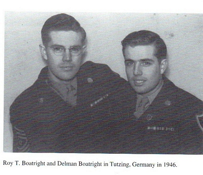 Roy Tynan Boatright and brother Delman McDonald Boatright
