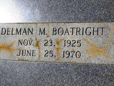 Delman McDonald Boatright Gravestone