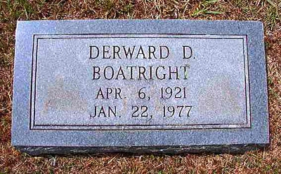 Derward Denon Boatright Gravestone