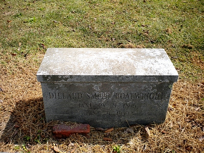 Dillard Smith Boatwright Gravestone