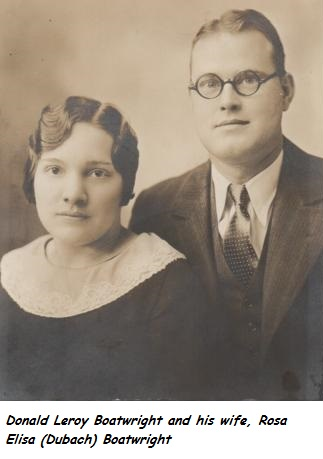 Donald Leroy and Rosa Elisa Dubach Boatwright