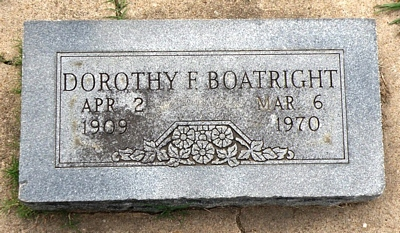 Dorothy F. Boatright Gravestone