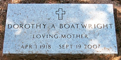 Dorothy Ann Phillips Boatwright Marker