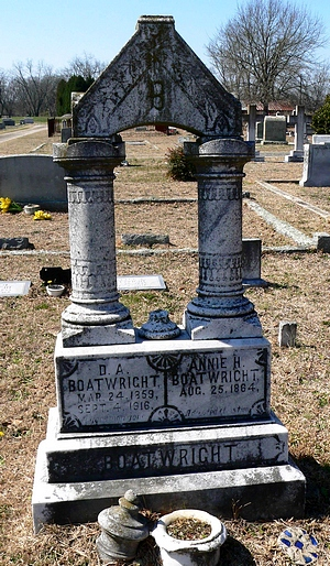 Drury Arthur Boatwright and Nora Ann Hall Gravestone