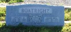Dwight D. and Addie Bell White Boatright Gravestone