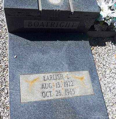 Earlish L. Boatright Gravestone