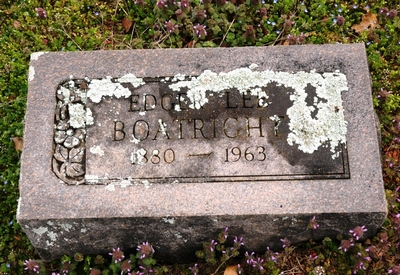 Edgar Lee Boatright Gravestone: