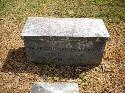 Edgar Vaughan Boatwright Gravestone