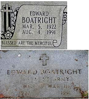 Edward Boatright Gravestone