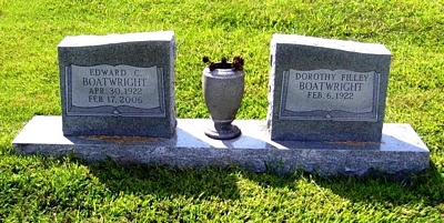 Edward C. and Dorothy Filley Boatwright Gravestone