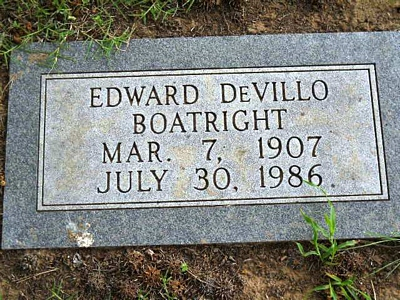 Edward Devillo Boatright Gravestone