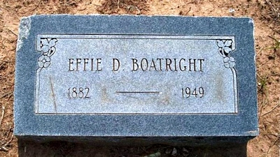 Effie Duckworth Boatright Marker