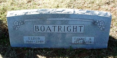 Eldon and Frances Ann Mcauley Boatright Gravestone