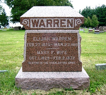 Mary Frances Boatwright and Elijah Warren Gravestone