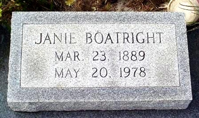 Eliza Jane Taylor Boatright Marker