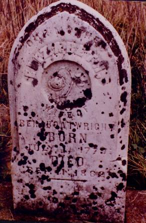 Elizabeth Blackburn Boatwright Gravestone