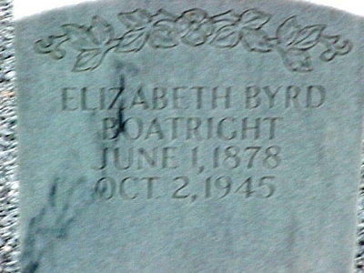 Elizabeth Byrd Boatright Gravestone