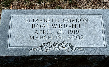 Elizabeth Gordon Boatwright Marker