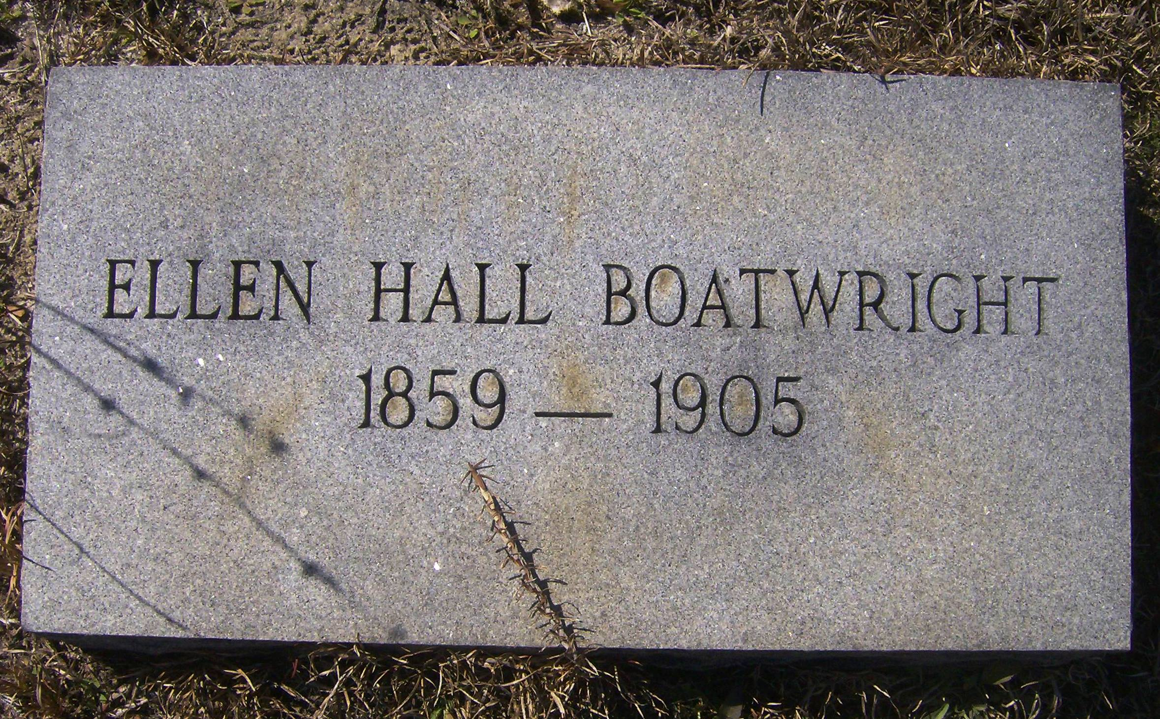 Ellen Hall Boatwright Gravestone