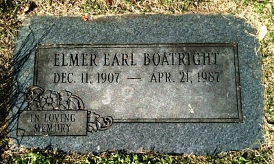Elmer Earl Boatright Gravestone
