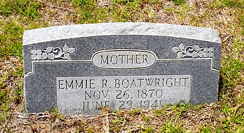 Emma Julia Rivers Boatwright Gravestone