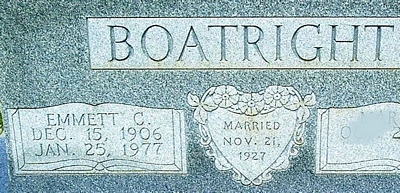 Emmet C. Boatright Gravestone
