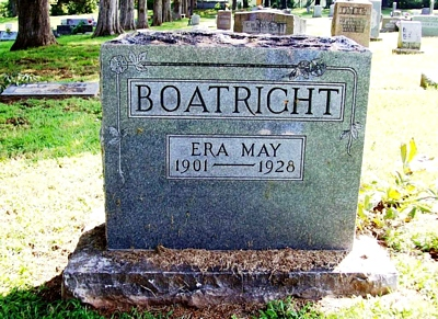 Era May Withrow Boatright Gravestone