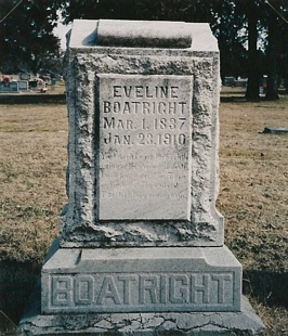 Eveline Boatright Gravestone