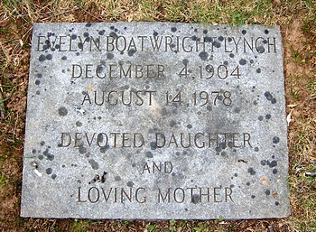 Evelyn Moore Boatwright Marker