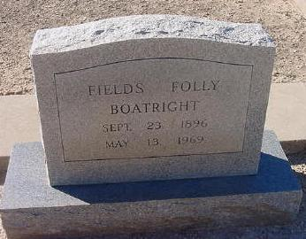 Fields Foley Boatright Gravestone