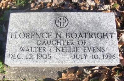 Florence Evens Boatright Marker