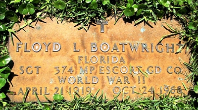 Floyd Luther Boatwright Gravestone