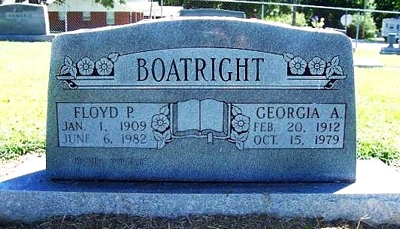 Floyd Parkinson Boatright and Georgia Alice Jean Gravestone