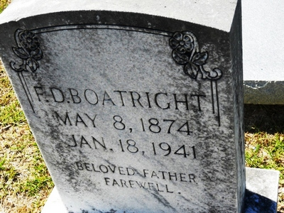 Francis David Boatright Gravestone
